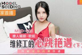 หนังโป๊จีนคุณหนูอยู่ห้องคนเดียวโดนช่างไฟที่มาซ่อมจับทำเมีย MSD-005